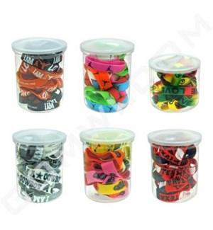 DISC  Bracelet  Assorted Plastic 100pcs/bag