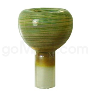 DISC GOG 19mm Fumed Bowl w/Green Stripes & Marble