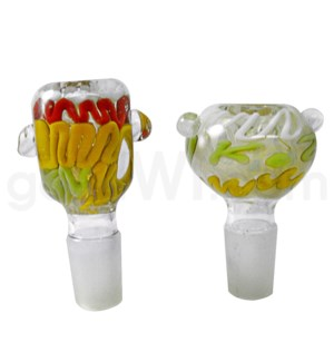 GOG 19mm Fumed Bowl w/Marbles Asst. Colors/Designs