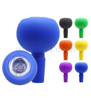 14mm Silicone Glass Bowl - Assorted Colors