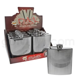 DISC Flask 6 oz  Stainless Steel