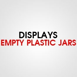 DISPLAY EMPTY PLASTIC JARS
