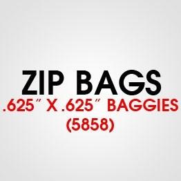 """.625"""" X .625 (5858) BAGGIES"""