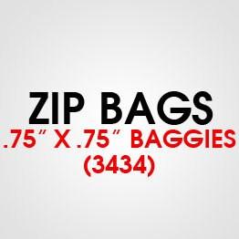 """.75"""" X .75"""" (3434) BAGGIES"""