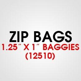 """1.25"""" X 1"""" (12510) BAGGIES"""