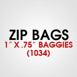 """1"""" X .75"""" (1034) BAGGIES"""
