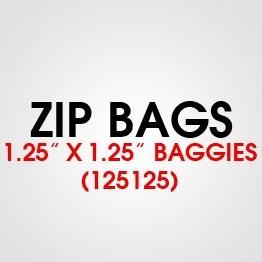"""1.25"""" X 1.25"""" (125125) BAGGIES"""