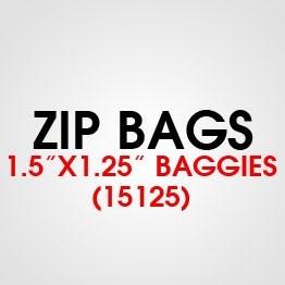"""1.5"""" X 1.25"""" (15125) BAGGIES"""