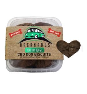 CBD Organabus Pet Dog Biscuits 4mg/ea 20ct - Pumpkin