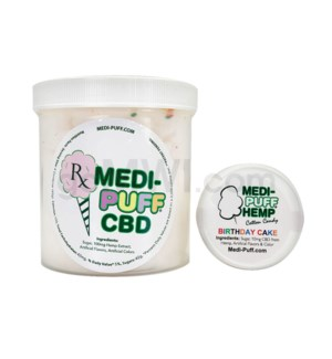 MEDI-PUFF Hemp CBD Cotton Candy 100mg - Birthday Cake