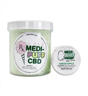 MEDI-PUFF Hemp CBD Cotton Candy 100mg - Green Apple