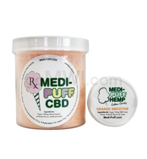 MEDI-PUFF Hemp CBD Cotton Candy 100mg - Orange Smoothie