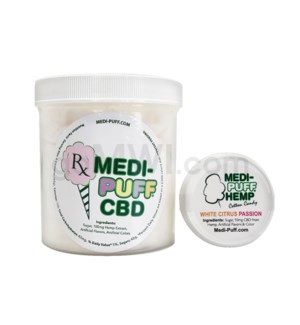 MEDI-PUFF Hemp CBD Cotton Candy 100mg - White Citrus Passion/