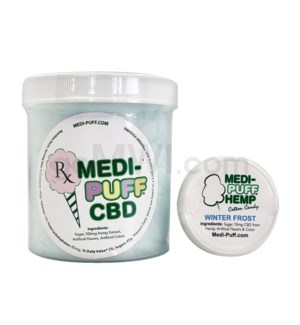MEDI-PUFF Hemp CBD Cotton Candy 100mg - Winter Frost