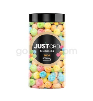 JUST CBD 3000mg Jar Emoji Gummies