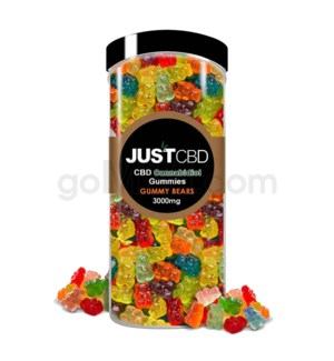 JUST CBD 3000mg Jar Gummy Bears