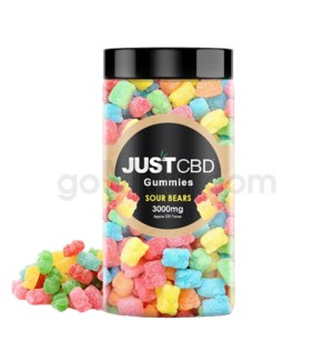 JUST CBD 3000mg Jar Sour Bears