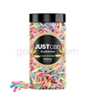 JUST CBD 3000mg Jar Sour Worms