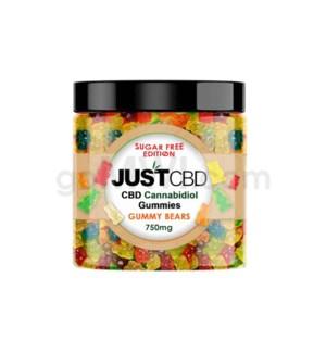 JUST CBD 750mg-12oz Jar Sugar Free Gummy Bears
