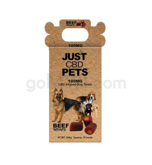 JUST CBD 100mg Dog Treat Jars Pet Beef & Rice