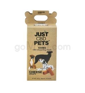 JUST CBD 100mg Dog Treat Jars Pet Cheese Wraps