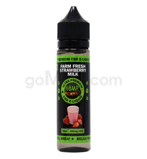 Hemp Bombs CBD E-Liquid 60ml /300mg Strawberry Milk