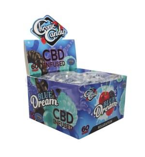 Chronic Candy CBD 10mg Lollipop-Blue Dream 60ct