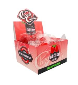 Chronic Candy CBD 10mg Lollipop-Strawberry 60ct