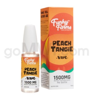 Funky Farms CBD 15ml 1500mg Vape Peach Tangie