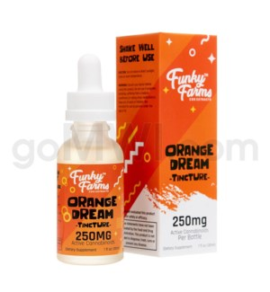 Funky Farms CBD 30ml 250mg MCT Tincture Orange Dream