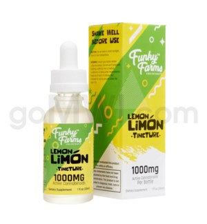 Funky Farms CBD 30ml 1000mg MCT Tincture Lemon Limon