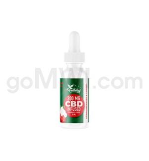 Free The Leaf E-Liquid 200mg/30ml Strawberry & Cream 6PC/BX