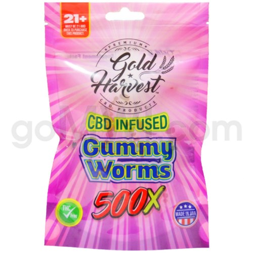 Gold Harvest CBD Infused 500mg Gummy Worms