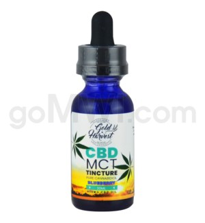 Gold Harvest CBD 30ml 500mg Tincture Blueberry