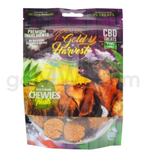 Gold Harvest CBD Dog Treats 100mg Cheese & Bacon Chewies
