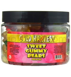 Gold Harvest CBD Gummy Jar 1000mg Sweet Bears