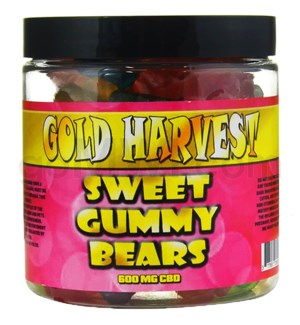 Gold Harvest CBD Gummy Jar 600mg Sweet Bears