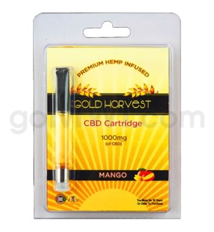 Gold Harvest CBD Cartridge 1ml 1000mg Mango