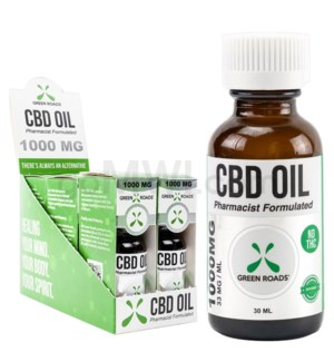 Green Roads CBD Oil Tincture 30ml 1000mg 6PC/BX