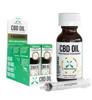 Green Roads CBD Oil Tincture 30ml 1500mg 6PC/BX
