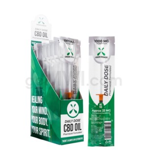 Green Roads CBD Daily Dose 1ml 1000mg-formula 33mg/ct 20PC/BX