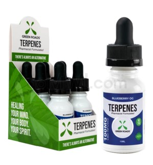 Green Roads CBD Terpenes Oil 100mg 15ml Blueberry 6PC/BX