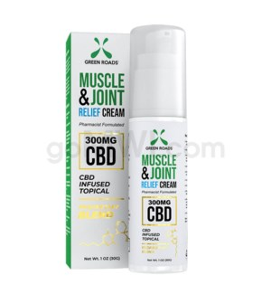 Green Roads CBD Muscle & Joint Pain Relief 1oz 300mg 16PC/BX