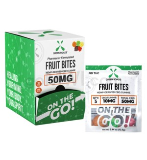 Green Roads CBD Edible 50mg 5ct Fruit Bites Gummies 30PC/BX