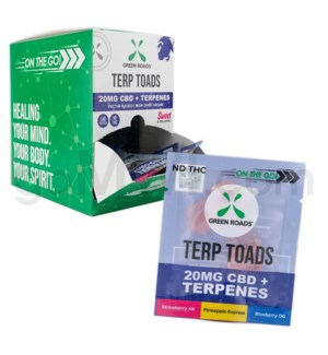 Green Roads CBD Edible 20mg 4ct Terpenes Terp Toads 30PC/BX