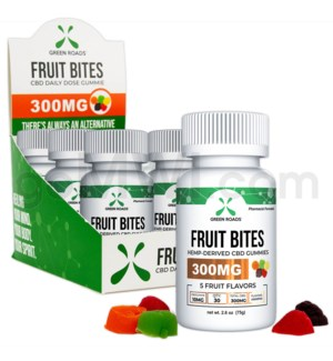 Green Roads CBD Edible 300mg 30ct Fruit Bites 6PC/BX