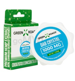 Green Roads CBD Isolate Concentrates 1000mg 1g Dab Crystals