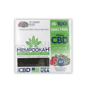 Hempookah 100% Hemp Infused Shisha 100g - Icy Berry 12PC/BX