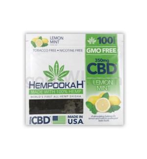 Hempookah 100% Hemp Infused Shisha 100g - Lemon Mint 12PC/BX
