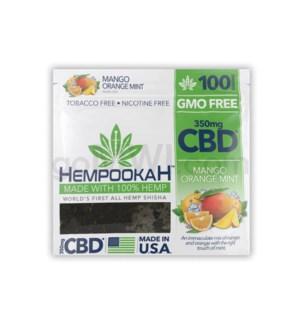 Hempookah 100% Hemp Infused Shisha 100g - Mango 12PC/BX